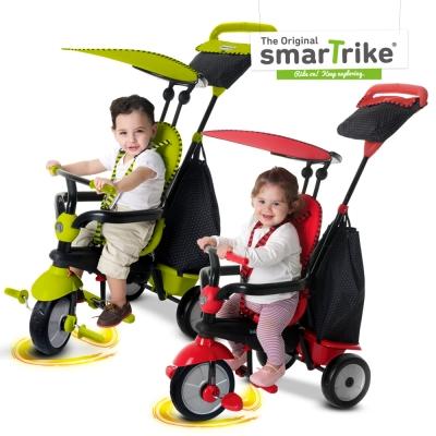 英國smarTrike新一代 英倫俏皮史崔克嬰幼兒4合1三輪車 兩色選