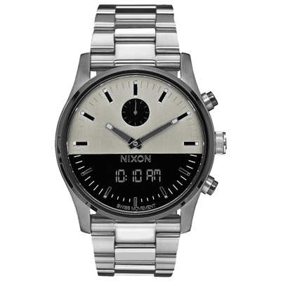 NIXON   DUO   宇宙力量雙顯時腕錶-銀/49mm