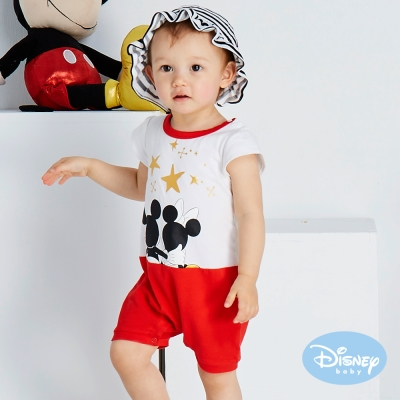 Disney baby 浪漫星空連身裝 白色