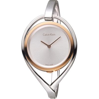 Calvin Klein  light 精巧系列 復刻回憶時尚腕錶-雙色/33mm