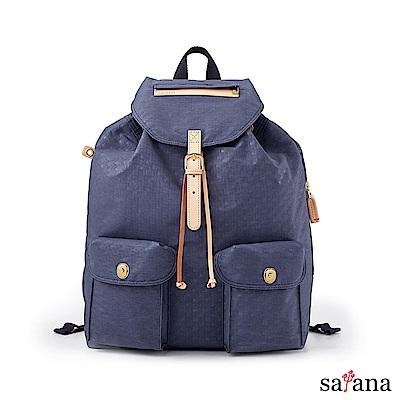 satana -Soldier 休閒束口後背包-夜影藍