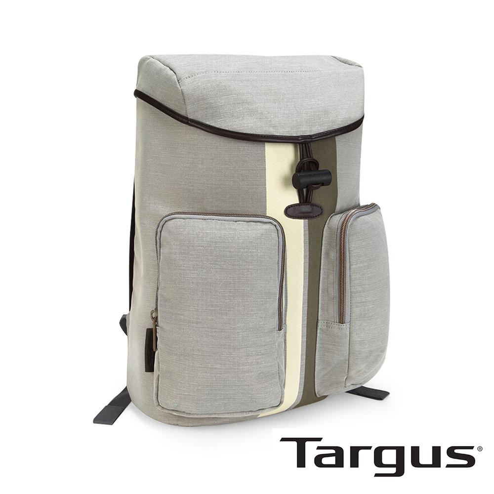 Targus Geo 復古休閒 15.6 吋掀蓋抽繩後背包-象牙白