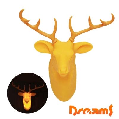 Dreams Hunting Trophy 裝飾壁掛燈-公鹿(黃)