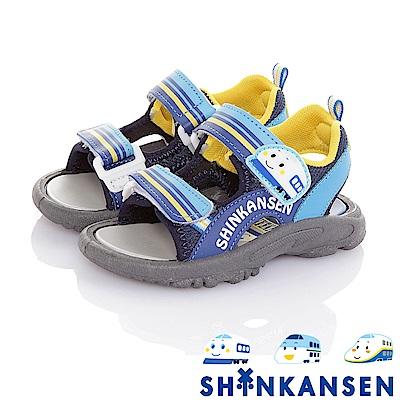 新幹線 減壓防滑運動休閒涼鞋童鞋-藍