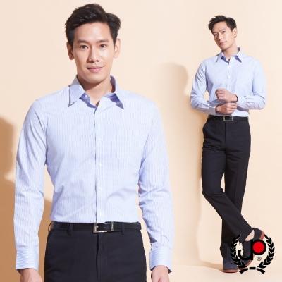 極品西服-大器品味直條紋長袖襯衫_紫(SW032-65)