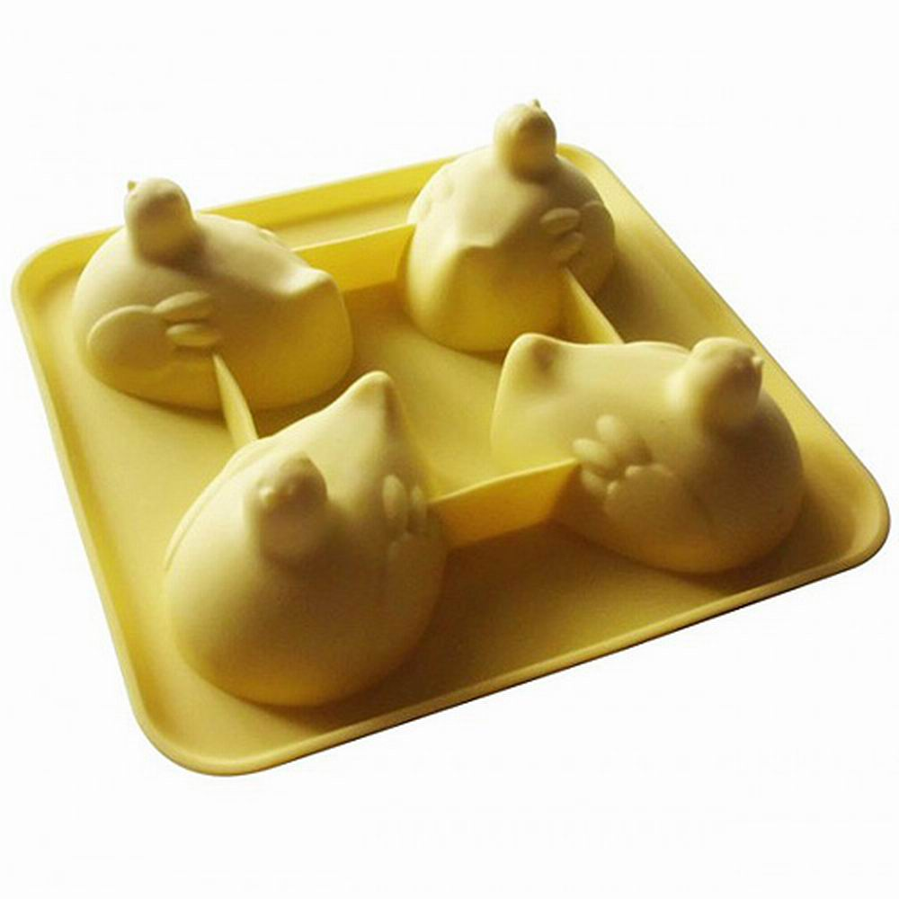 iSFun 咕咕母雞 矽膠模型製冰盒 隨機色