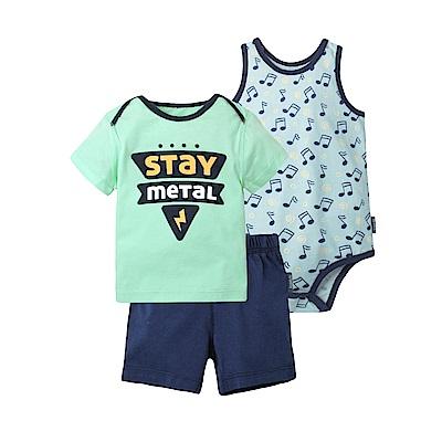 baby童衣 短袖套裝 純棉動物印花男寶 3件組 80049