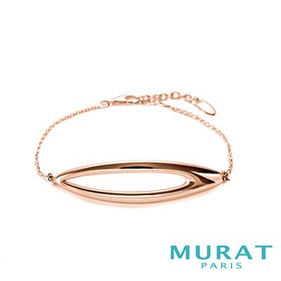 MURAT PARIS米哈巴黎 經典曲線手鍊(玫瑰金)(大)