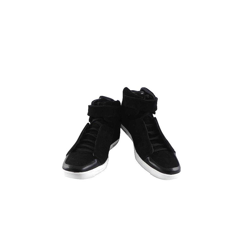 Y-3山本耀司 黑色麂皮中筒運動休閒鞋