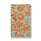 KENZO-徽章-純棉毛巾蓋毯(薄荷綠+橘)
