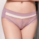 推EASY SHOP-情挑美人 中腰三角褲(香檳紫)
