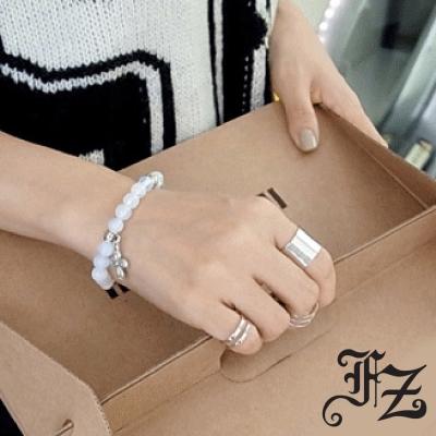 FZ  光面寬長版白鋼戒指(戒圍可選)