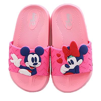 迪士尼米妮美型休閒拖鞋 粉 sk0339魔法Baby