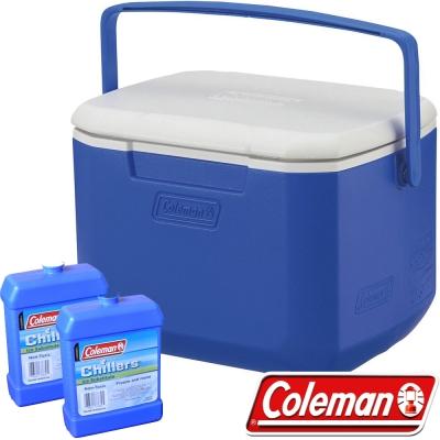 Coleman 27859_藍 15L Excursion行動冰箱+冷媒*2 公司貨保冰桶