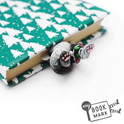 禮物myBookmark手工書籤-纏著耶誕燈的貓咪
