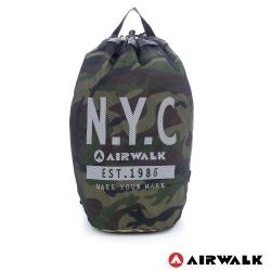 美國 AIRWALK美式網布尼龍大束口後背包