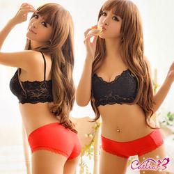 內褲 純色棉質內褲(紅) Caelia