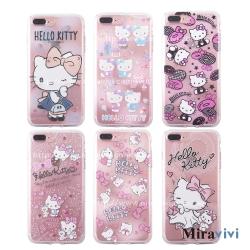三麗鷗iPhone 8/7 Plus施華落世奇水鑽防摔空壓保護套_Kitty