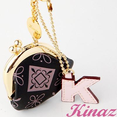 KINAZ 糖果小物~小巧零錢包吊飾-Pinky黑粉