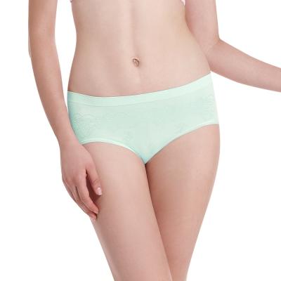LADY 超彈力親膚無痕系列 中腰低衩三角褲(綠色)