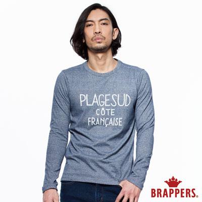 BRAPPERS 男款 休閒基本款長袖上衣-藍