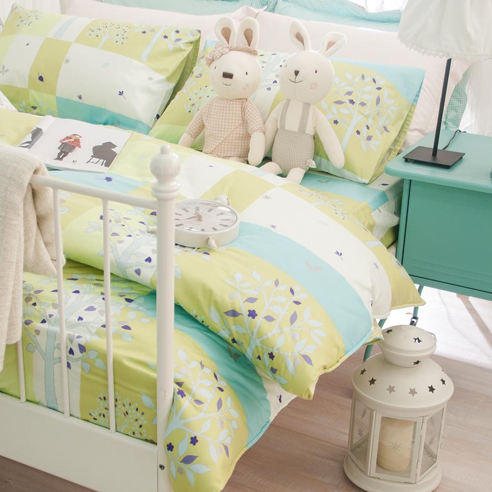 OLIVIA 綠光森林  雙人兩用被套床包四件組