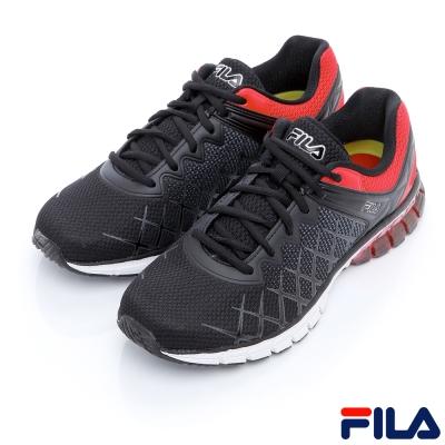 FILA男慢跑鞋-黑/紅1-J032R-005