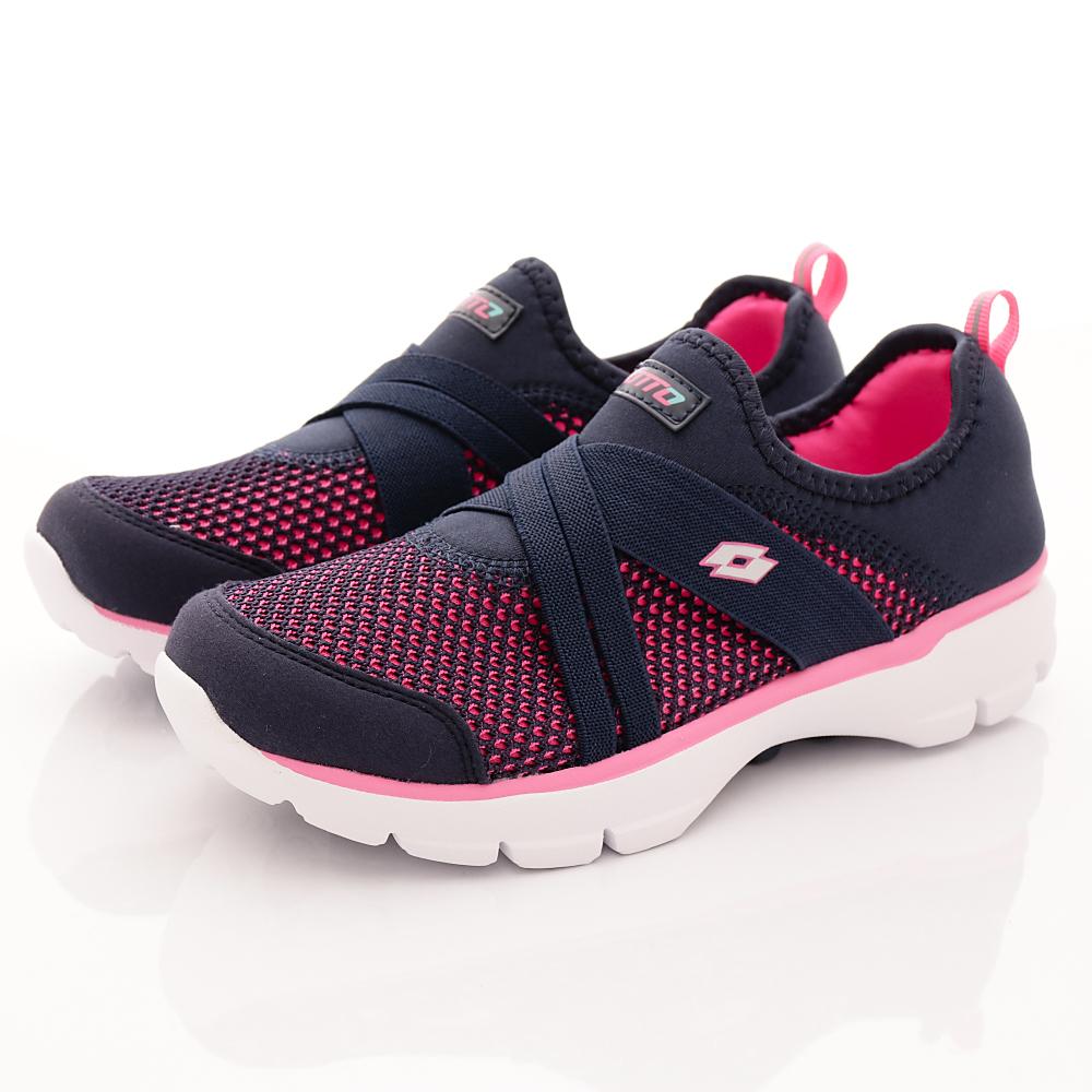 Lotto樂得-雙密度緩震慢跑鞋-FI886深藍(女段)
