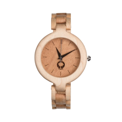 Plantwear 手工木製手錶 Glamour 象牙白-楓木/35mm
