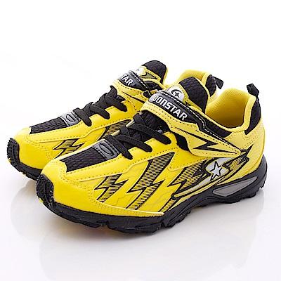 日本月星頂級競速童鞋-2E炫彩BANE款-6743黃(中大童段)T1