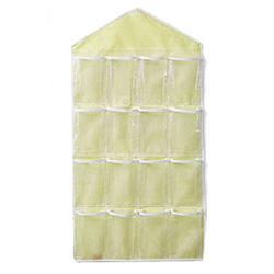 iSFun 居家收納 衣物雜貨16格掛袋 淺黃 80x42cm