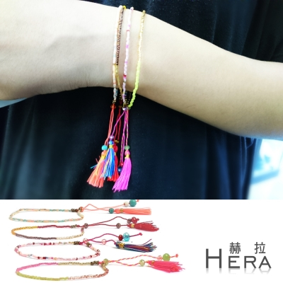 Hera 赫拉 日本進口米珠極細串珠流蘇手鍊(4款)