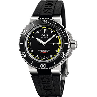 Oris Aquis Depth Gauge 深度測量潛水機械套錶組~46mm