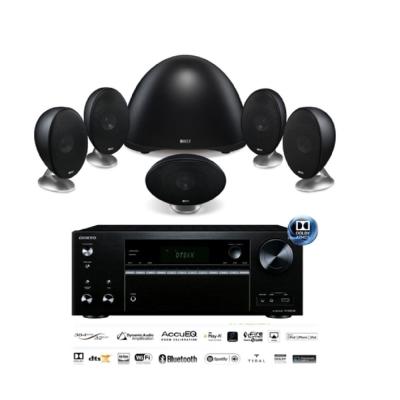 英國 KEF E305 5.1衛星喇叭家庭劇院黑色組 + TX-NR676E影音擴大機