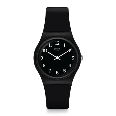 Swatch 原創系列 BLACKWAY 霧黑酷勁手錶-34mm