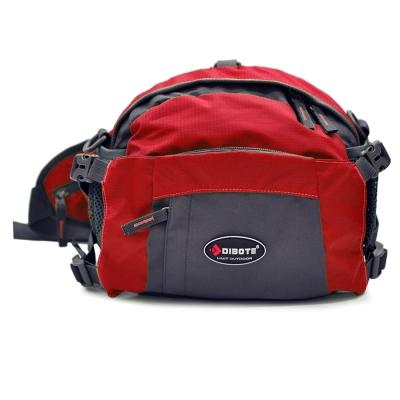 迪伯特 DIBOTE 多功能戶外休閒腰包/背包/旅遊包/臀包/相機包(紅)