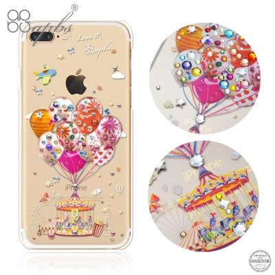 apbs iPhone8/7 Plus 5.5吋施華洛世奇彩鑽手機殼-夢想氣球