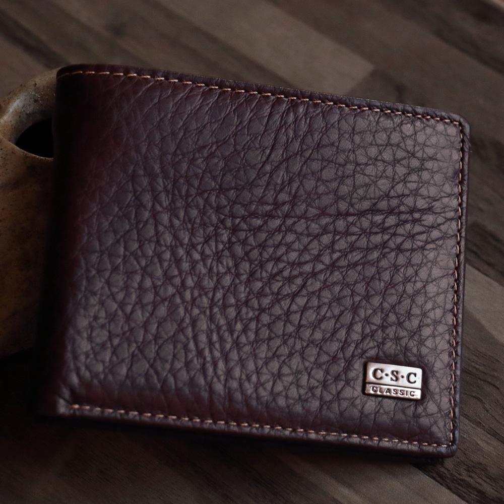ABS愛貝斯 男用皮夾 短夾 橫式雙層鈔票層 活頁照片層(棕-石頭紋)7073-010