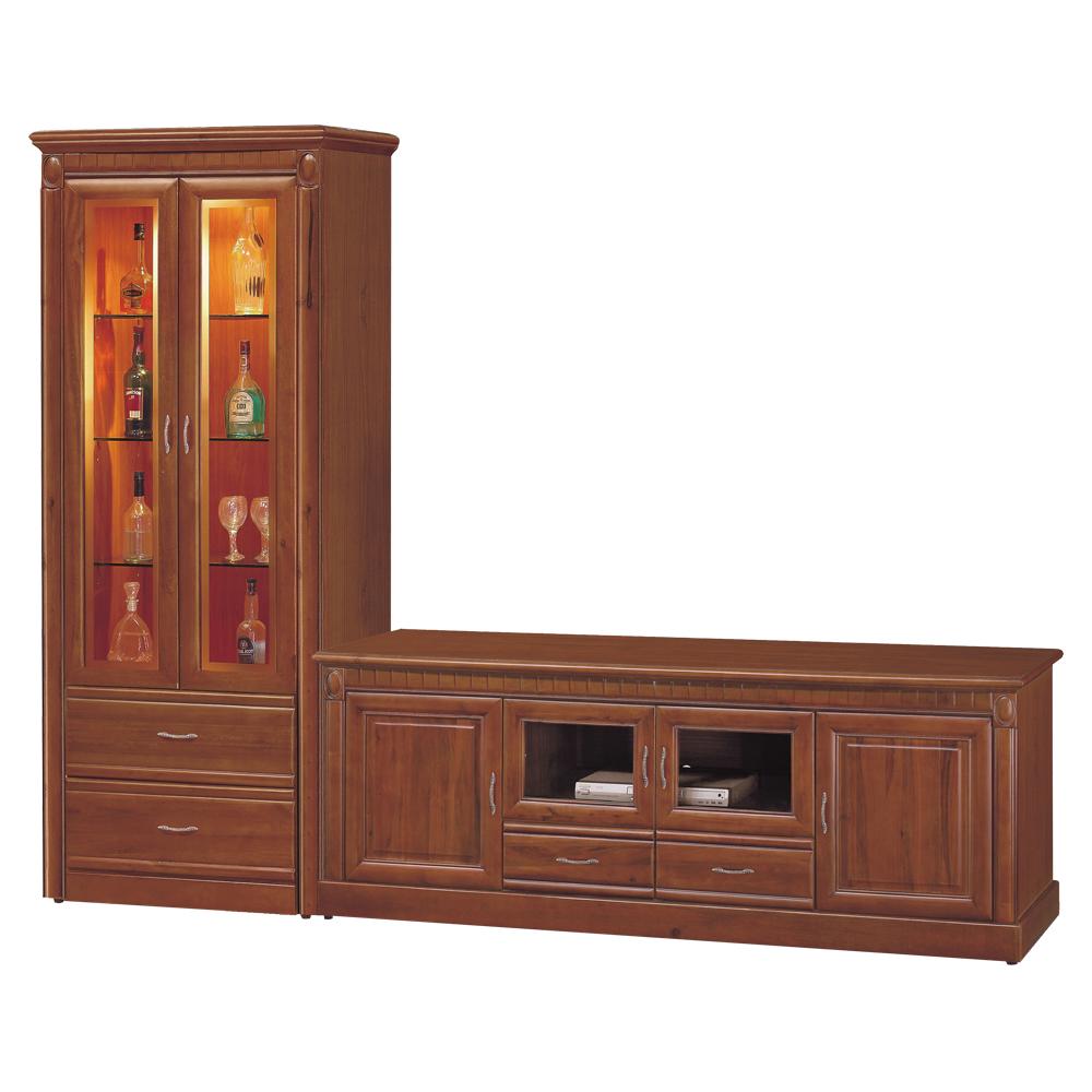 時尚屋 建霖9.4尺樟木L型電視櫃