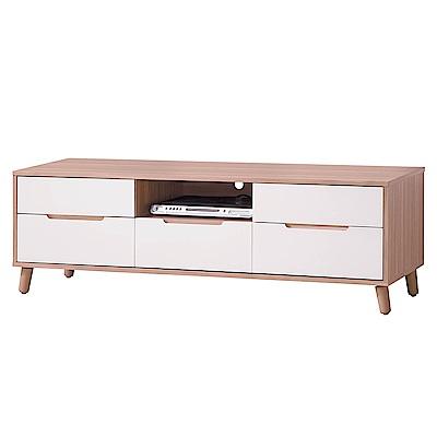 H&D 烤白雙色6尺長櫃 (寬182X深40X高47.6cm)