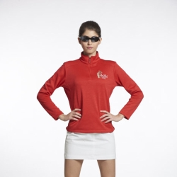 Sunrise紅色長袖輕刷毛上衣-L90012-1