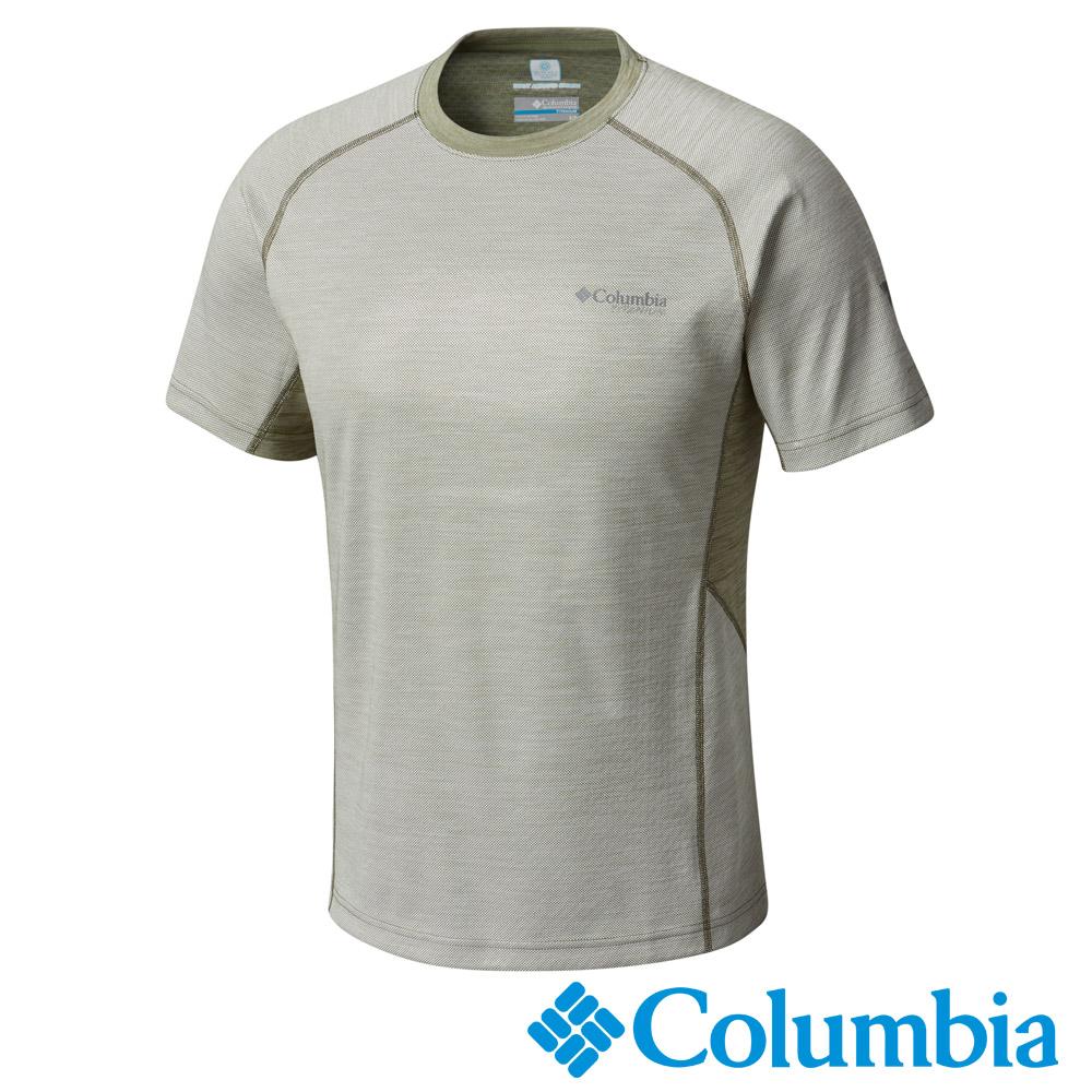 Columbia 哥倫比亞 男-鈦防曬50涼感快排短袖上衣灰綠UAE01790GG