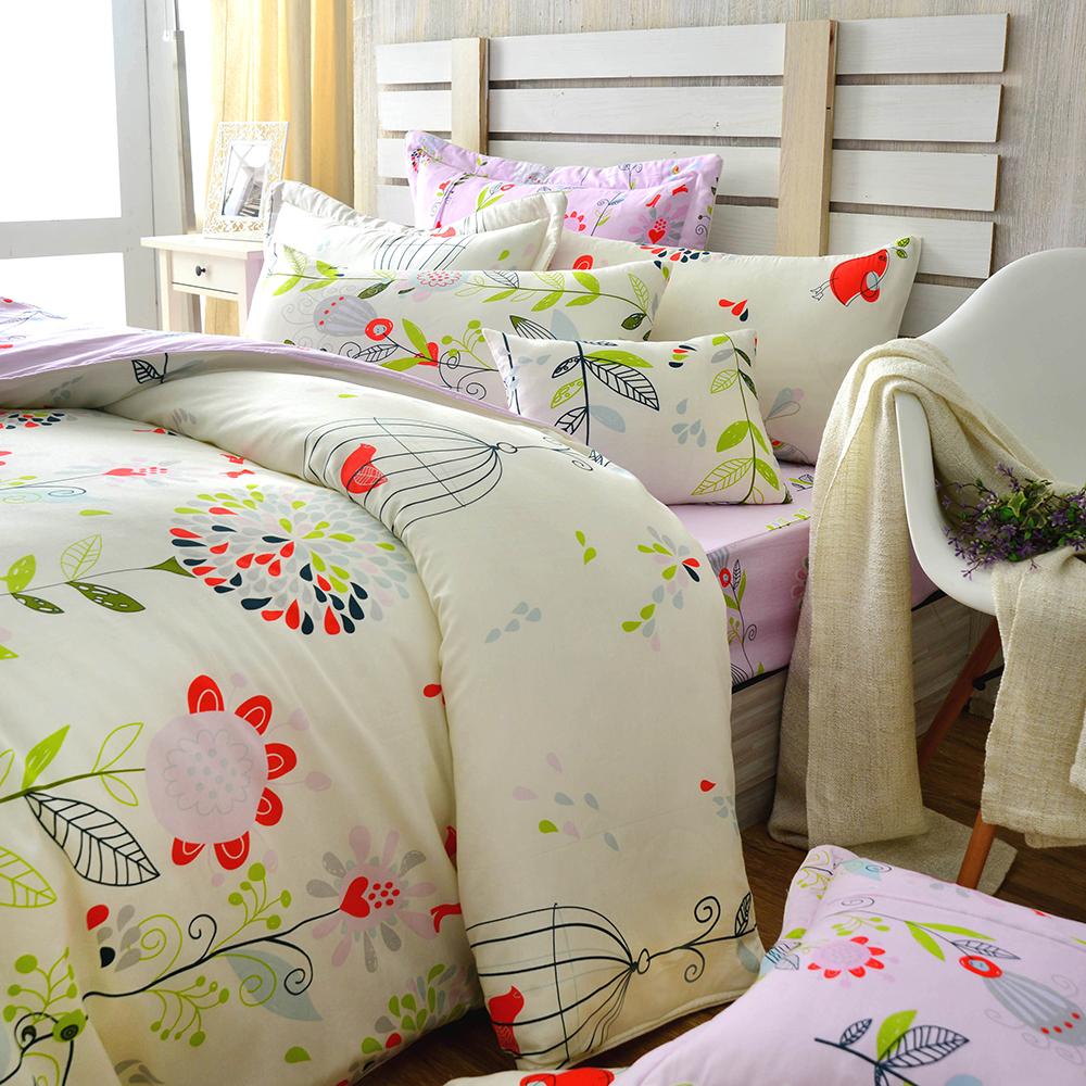(活動)GL  春天來了 精梳純棉加大兩用被床包四件組