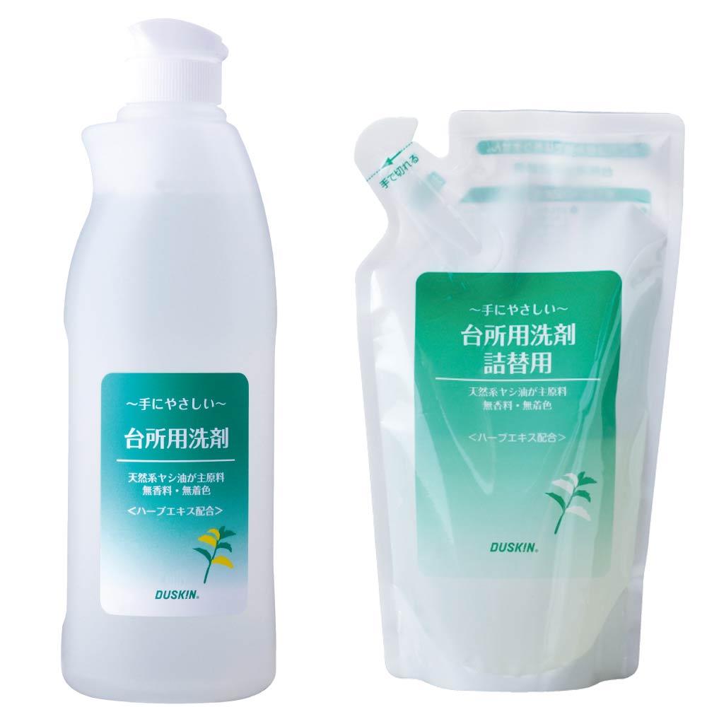 日本DUSKIN 廚房超濃縮洗潔精300ml/瓶+補充包250ml