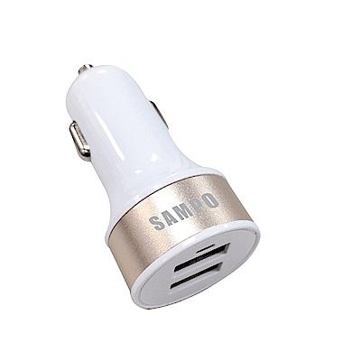 SAMPO 聲寶 雙獨立快充輸出 雙QC 3.0 USB 車用充 DQU~1601CL