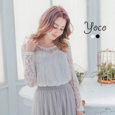 東京著衣-yoco 自訂款小性感優雅蕾絲上衣-S.M(共二色)