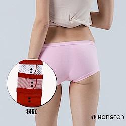 HANG TEN 舒適包臀平口褲三入組_紅(HT-C22002)