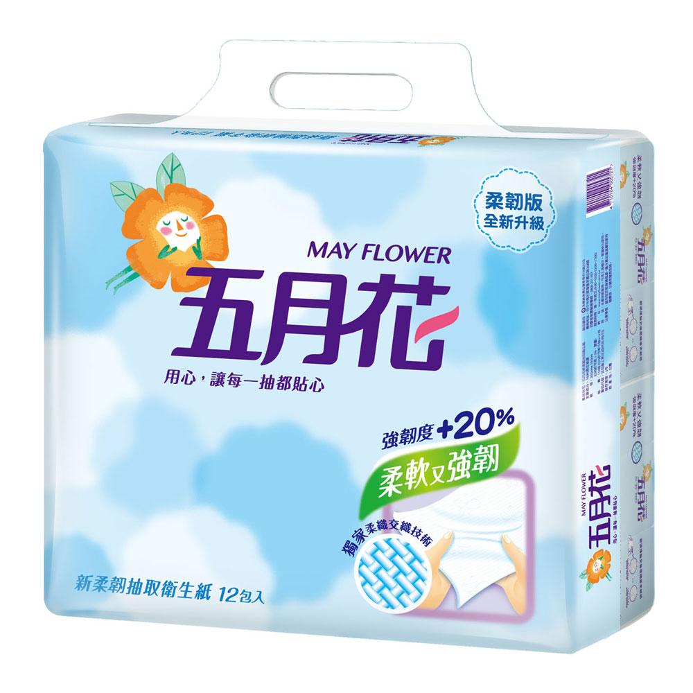 五月花新柔韌抽取式衛生紙(110抽x12包)