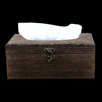 PUSH! 居家生活-復古自然風面紙盒(I06)