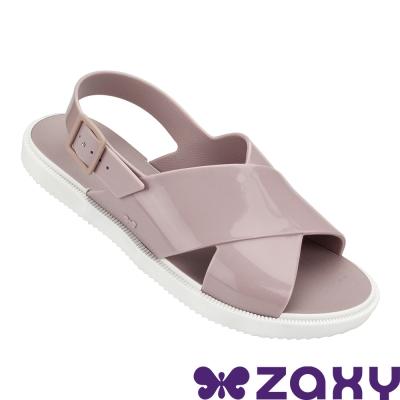Zaxy 巴西 女 穿搭玩美平底涼鞋-藕色